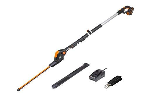 WORX WG252E 18V (20V Max) Cordless Pole Hedge Trimmer 45cm 2.0Ah Battery