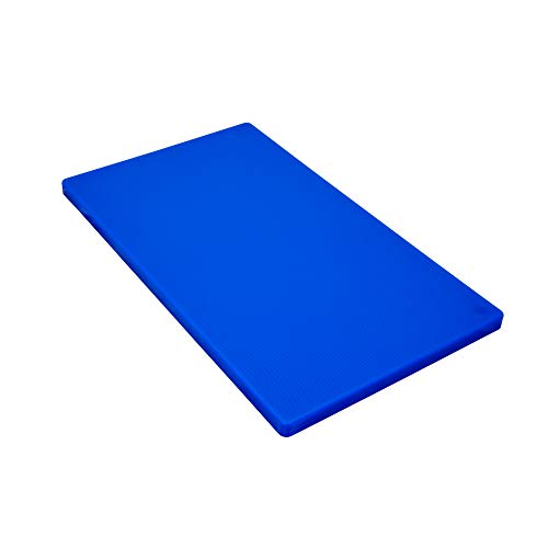 Gastro Spirit - Großes Schneide-Brett/Küchen-Brett - Blau, ca. 50 x 30 x 2 cm, HACCP, Kunststoff, mit rutsch-hemmenden Füßen