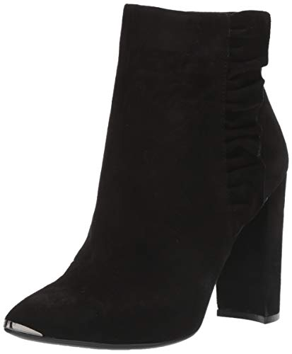 Ted Baker Women's FRILLI Ankle Boot, Black Suede, 8.5 M US