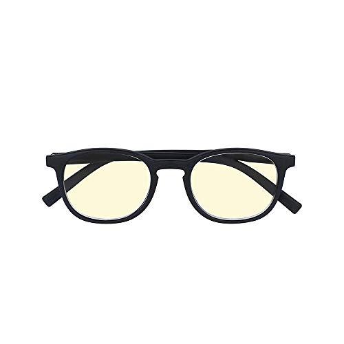 Unisex Lesebrille mit Blaulichtfilter – Lesehilfe für Computer & Smartphone Bildschirme – Gegen Müde Augen und Kopfschmerzen – Leicht & Stabil - +1,75 Dioptrie - Black - Silac - Screen Black 7405