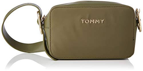 Tommy Hilfiger Recycled Nylon Crossover, Bolsas. para Mujer, Utilidad Oliva, One Size
