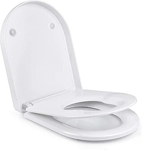 Asiento y Tapa WC Familiar para Niños y Adultos con Función de...
