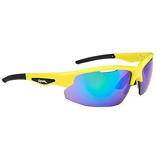 Spiuk Sportline Gafas Ciclismo Rimma, Adultos Unisex, Amarillo Fluor/Negro, Unico