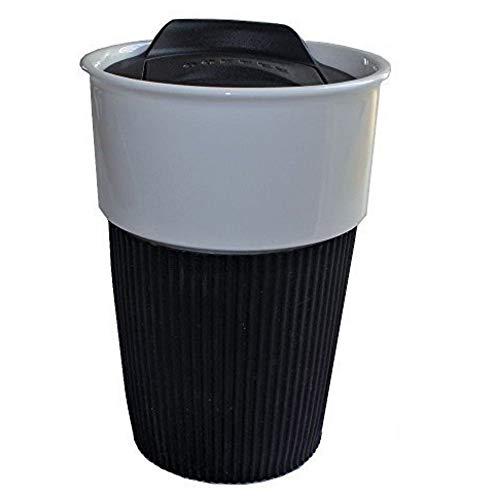 Kaffeebecher to go Porzellan/Travel Mug 350ml Schwarz