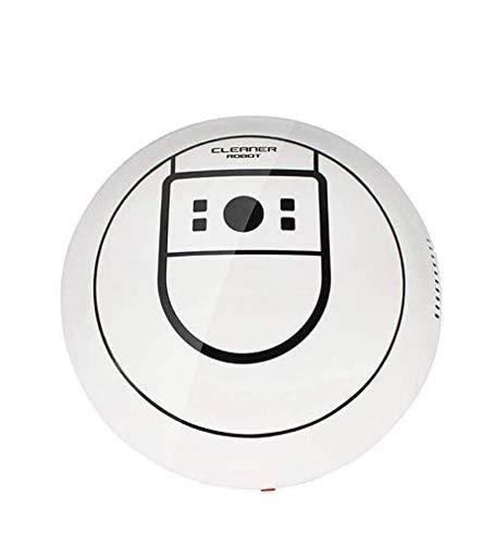 Zeerkeer Mini Robot Spazzare, Robot Aspirapolvere con Sensori Barre, Aspira, Spruzza e Passa, Speciale per Animali Domestici e Tappeti, 20cm X 7cm (Bianco)