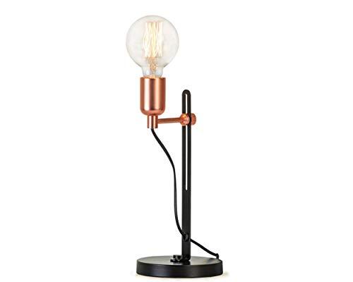 Lámparas de escritorio FHW Lámpara de Mesa Decorativa nórdica Moderna del Hierro Creativo Lámpara del Dormitorio Estudio Sala Tabla Creativa (Color : Rose Gold)