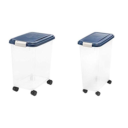 IRIS Airtight Pet Food Storage Container with IRIS Airtight Food Storage Container, 32-Pounds, No Scoop