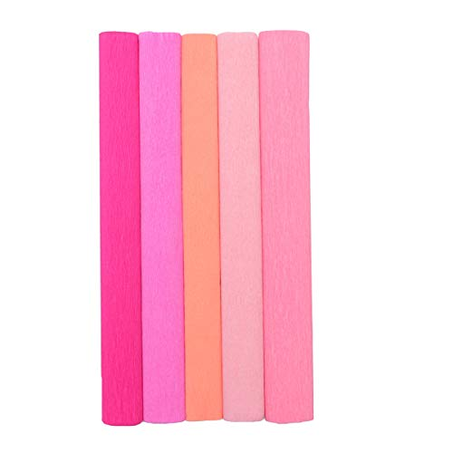 SUPVOX 5 rollos de papel crepé rollos plegables 20 pulgadas de ancho...
