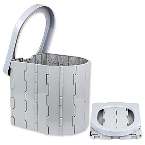 Akemaio Toilette portatile pieghevole da campeggio, toilette da viaggio, toilette da campeggio, unisex, per campeggio, barca, escursionismo, viaggi lunghi, spiaggia