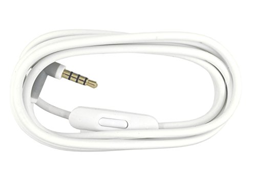 SINDERY Replacement Audio Cable Cord Wire with in-line Microphone and Control Compatible with Beats by Dr Dre Headphones Solo/Studio/Pro/Detox/Wireless/Mixr/Executive/Pill (White)