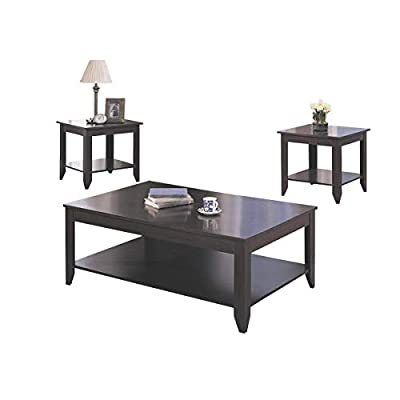 Coaster Home Furnishings 3-piece Occasional Table Set with Shelves Cappuccino