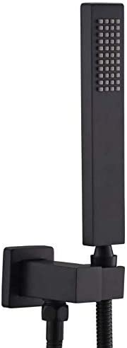 Easy-to-use ENGA Bathroom Square Matte Black Solid Brass He 67% OFF of fixed price Hand Held Shower