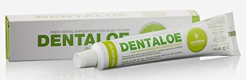 Verdaloe - Dentaloe - Dentífrico con Jugo de Aloe Vera - Presentación 100 ml - Bactericida y Analgésico - Contiene Flúor - Controla la Placa Bacteriana - Fabricado en España - Plantaciones Ecológicas