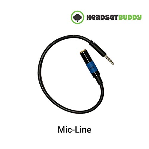 Headset Buddy: A livello di linea Audio Adapter per iPhone, Smartphone (iPhone-Mic-Line)