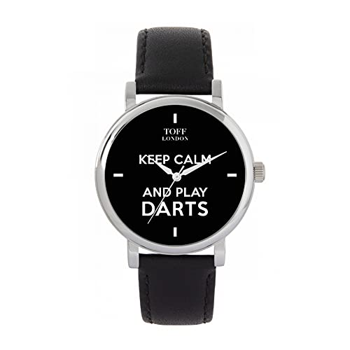 Toff London Reloj Negro Keep Calm and Play Darts Batons