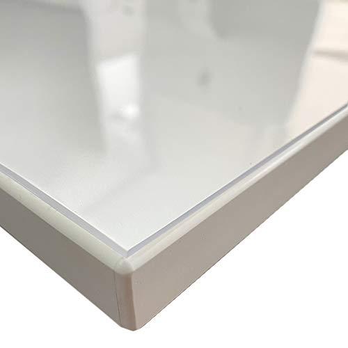 Generisch VioLife Tischdecke Tischfolie Tischschutzfolie Transparente PVC Folie Schutzfolie Glasklar 2mm Made in Germany + gerade Kanten (Breite 90 cm, Länge 180 cm)