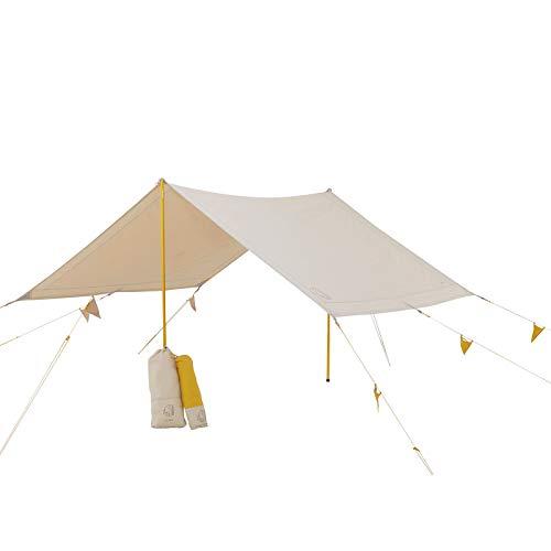 Nordisk Kari Tech Mini Tarp Vor Zelt Plane Glamping Sonnensegel Baumwolle 3x2,5m Mustard Yellow