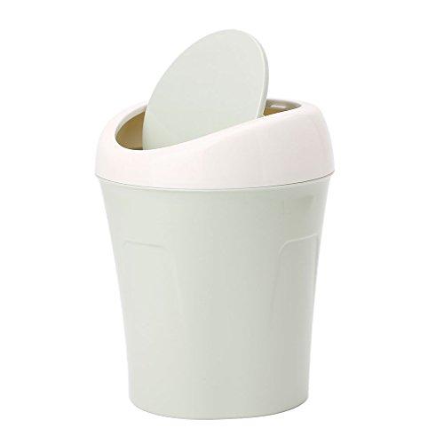Mesa de plástico para encimera, con tapa de columpio, para coche, mini papelera, 3 opciones de color, color verde