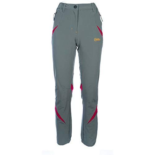 Great Escapes Pantalone Estivo Escursione e Trekking Donna Fuego, Steeple Grey 46 IT