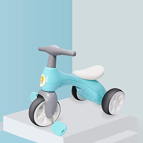 Lihgfw Baby-Kinder-Dreirad Fahrrad 1-3-4 Jahre alt Baby-Kleinkind Kinder Leichte 3-Rad-Pedal-Spaziergänger Bestes Geburtstags-Geschenk (Color : Blau, Größe : 55CM)