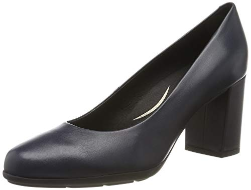 Geox D New ANNYA A, Zapatos de Tacón Mujer, Azul (Navy C4002), 37.5 EU