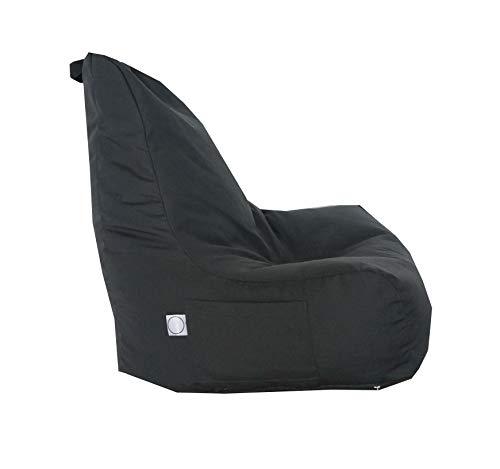 Bean Bag Adult Kids Water resistant Gaming Chair Recliner Pre-filled - Indoor Outdoor Garden Reading Living room (Dark Grey-Fabric)