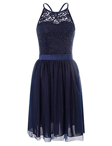 GRACE KARIN cocktailkleid Damen elegant spaghettiträger Kleid Knielang Ballkleider Mode brautjungfernkleider L CL13-2