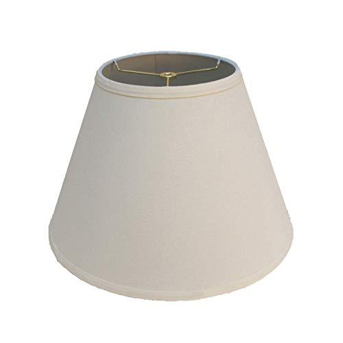 ADSE Pantalla de Tela Blanca, lámpara de Mesa Redonda clásica con diseño Tradicional, Pantalla de lámpara de pie, Varios tamaños, 46 CM