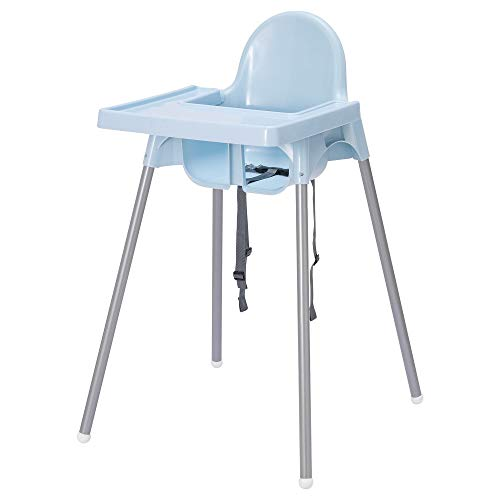 Ikea Antilop Highchair with Tray,Safety Belt (Blue)