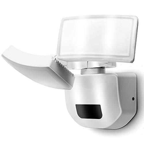 LED Strahler Ausenlicht mit Bewegungsmelder 30W Doppel Aussenstrahler Ausenwand Tageslichtweiß Beleuchtung Hoflampe IP66 Aussenlampe Treppenleuchte