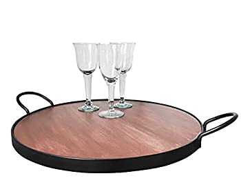 Large Serving Tray for Ottoman with Handles Decorative Oversized Tray for Serving Tea Coffee Wine 23.5 Inches