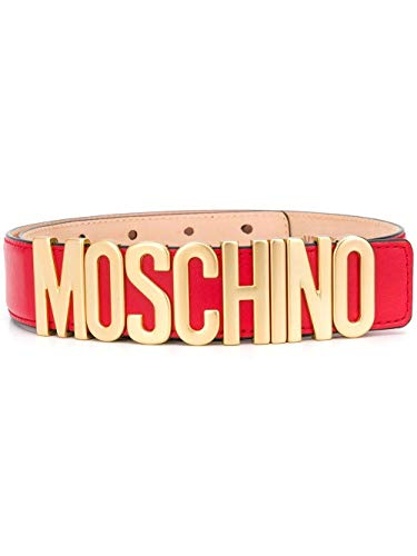 Luxury Fashion | Moschino Dames A800780010116 Rood Leer Riemen | Lente-zomer 20