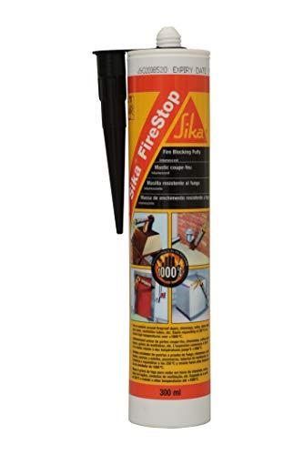 Sika 89267 Masilla Alta Resistencia al Fuego, Firestop, Negro, 300 ml