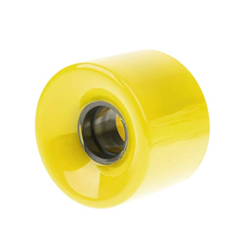 Rueda F-Jiujin Solid Cruiser Longboard Skateboard Alta Elasticidad Durable PU Ruedas Skate Board Accesorio for Mini Cruiser Longboard (Color : Amarillo)