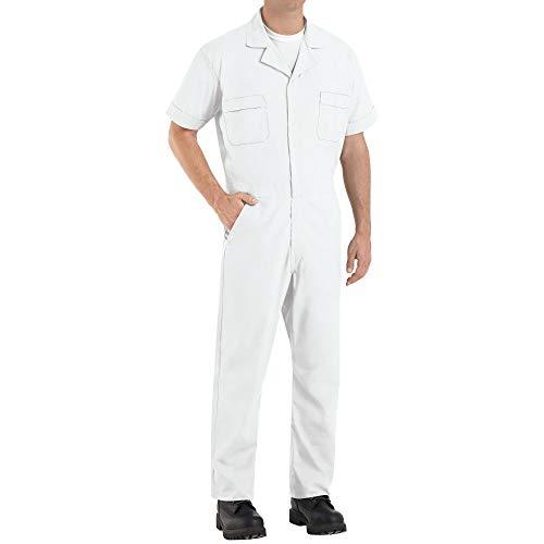 Red Kap Men's Speedsuit, White, X-Large