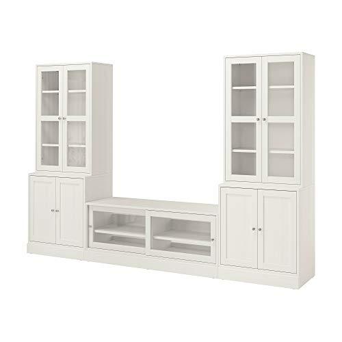 HAVSTA TV combinación de almacenamiento y puertas de cristal 322x47x212 cm blanco