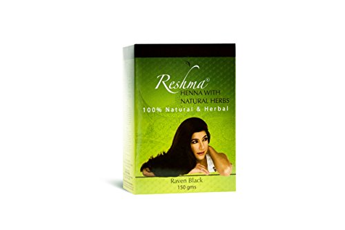Reshma Beauty Henna Hair Color Pure Natural & Organic Dye with Goodness of Herbs (Raven Black, Pack Of 1)