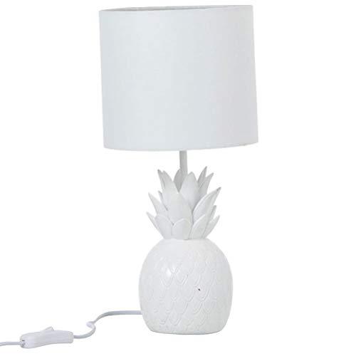 Lampe ananas en résine blanc