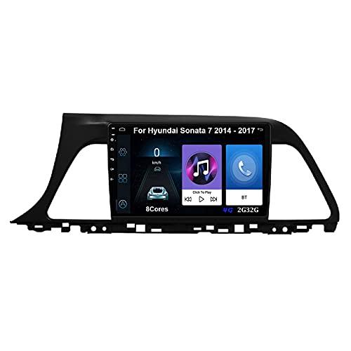Autoradio Android Car Radio Stereo 9 Pulgadas Pantalla Táctil Para Hyundai Sonata 7 2014-2017 Para De Coche Conecta Y Reproduce Autoradio Mit Bluetooth Freisprecheinrichtung