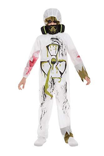 Smiffys 51076L Biohazard Anzug, für Jungen, Weiß, Größe L, Alter 10-12 Jahre