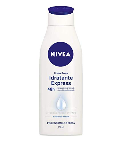 Nivea Crema Corpo Idratante Express 48h Pelle Normale o Secca, 250ml