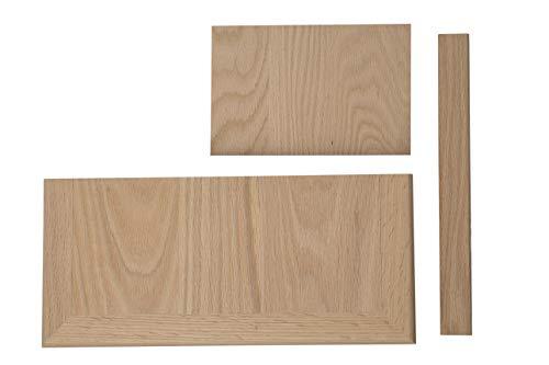 Complete Universal Tread Kit - False Tread Cap, Riser, and Trim (Red Oak)