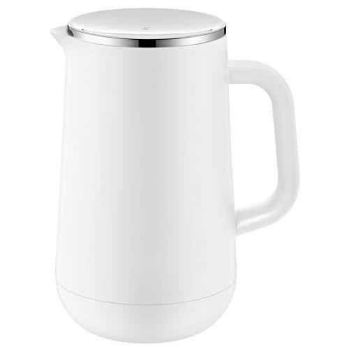 WMF Impulse Thermoskanne 1l, Isolierkanne für Tee oder Kaffee, Drehverschluss, hält Getränke 24h kalt & warm, weiss