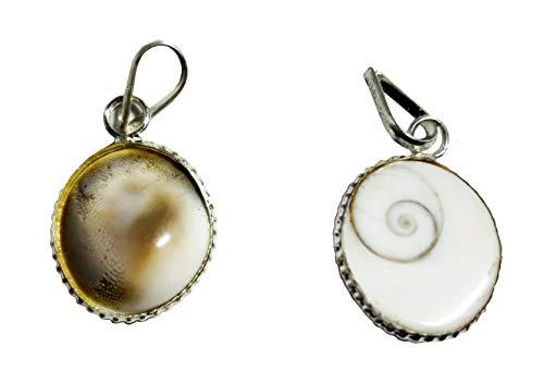 NK CRYSTALS Gomti Chakra Anhänger Feng Shui Natursteine Wealth Charm Indische Gomati Amulett Halskette Anhänger Spirituelle Hindu Geschenke