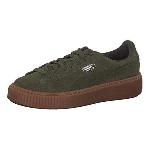 Puma Suede Platform Animal 36510903, Turnschuhe , olive Night silver (kaki), 39 EU