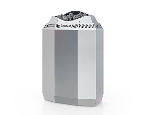 ISIDOR Premium Gartensauna Vapor Elektro- Saunaofen Kaja mit 9 kW Heizleistung; 4,1m² großem Saunaraum inkl. Sauna-Innenausstattung auf Insgesamt 12,6m² Gebäudefläche