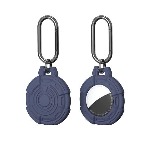(2 Pack) Auyuiiy AirTag Schlüsselanhänger, Schutzhülle für Airtag Anti-Lost-Schutzhülle Weiche Silikonhülle(Blau)