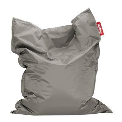 Fatboy® Original Sitzsack Silver | Klassische Indoor Beanbag, Sitzkissen in Silber | 180 x 140 cm