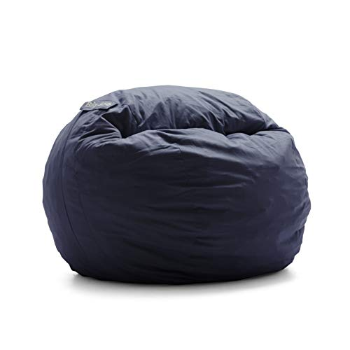 Big Joe Fuf Foam Filled Bean Bag, Extra Extra Large, Black Onyx Comfort Suede