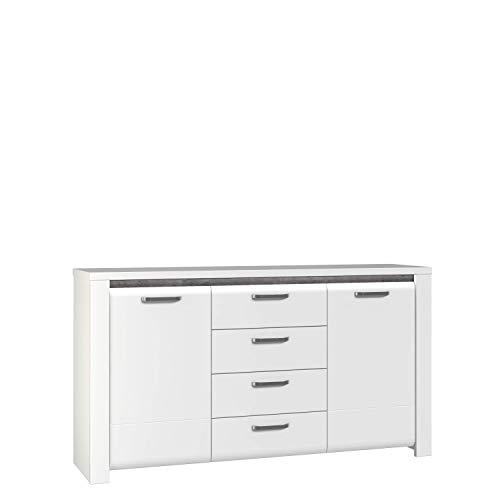 FORTE Brugia Sideboard, Holzwerkstoff, 75 x 88,7 x 161,1 cm